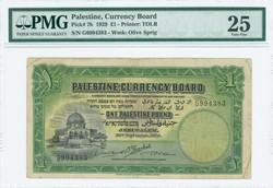 110.570.370: Banknoten - Asien - Palästina
