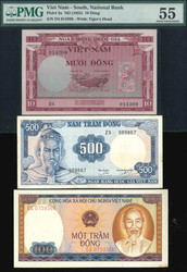 110.570.495: Banknotes – Asia - Vietnam South
