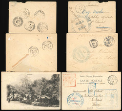 2610: French Post in China - Covers bulk lot