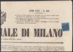 3385: Antichi Stati Italiani Parma segnatasse per giornali