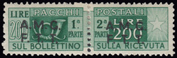 6295: Trieste Zone A Tax Stamps for Parcel Delivery