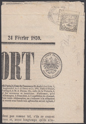 3370: Early States Modena Newspaper Stamps
