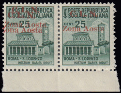 3512010: Italien Lokalausgaben C.L.N. Aosta