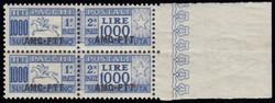 3505: Amministrazione anglo-americana della Venezia Giulia 1945-47 - Parcel stamps