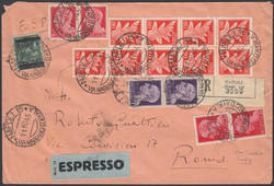 3415135: Italian Reign Revenue stamps used for postage - Express delivery stamps