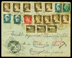 3415135: Italian Reign Revenue stamps used for postage - Parcel stamps