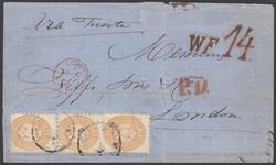 3535050: Italienische Post in der Levante Smyrna