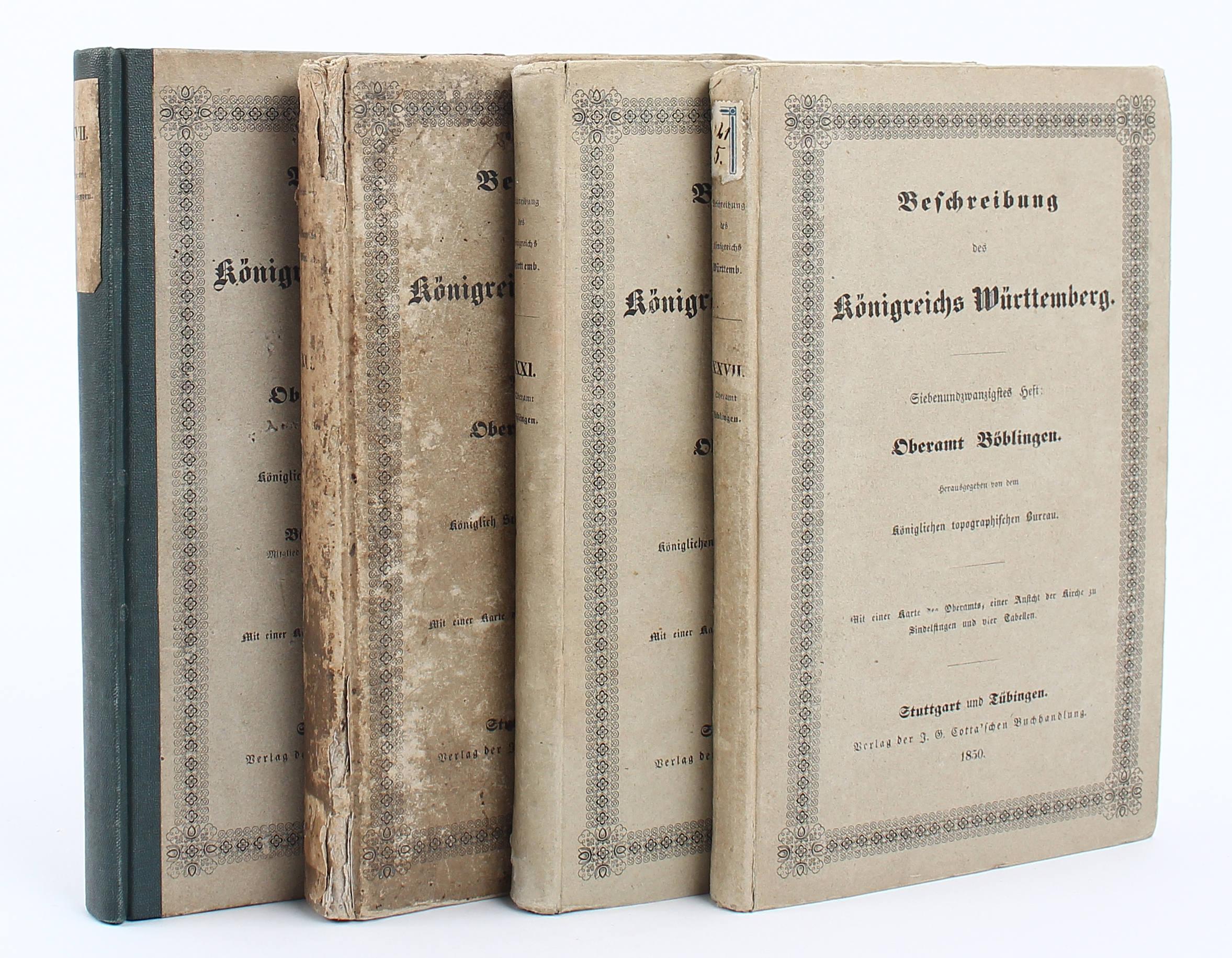 Beschreibung des Königreichs Württemberg. 4 Bde.