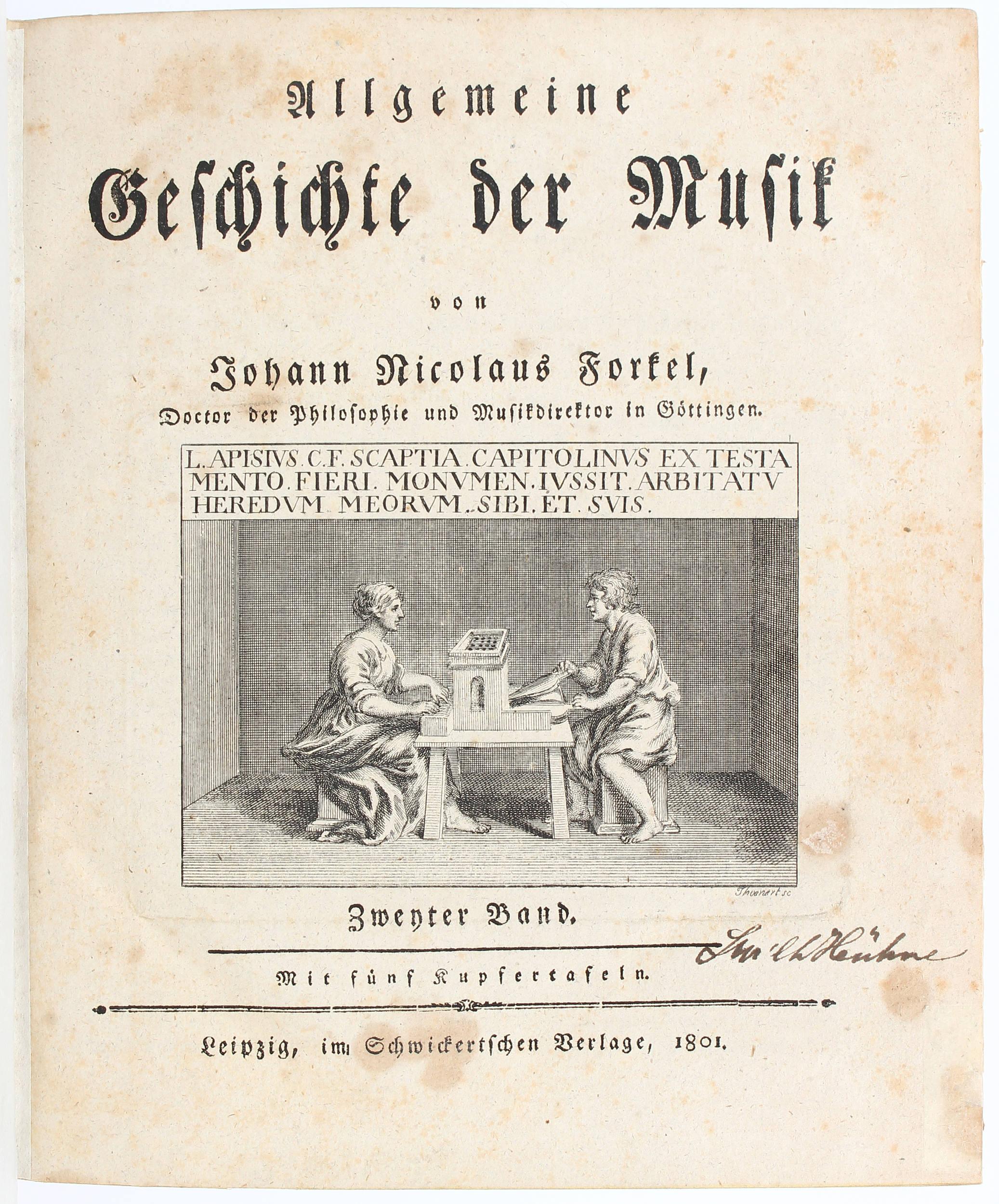 Forkel, Geschichte der Musik. 2 Bde.