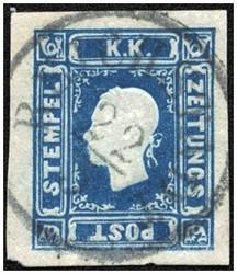 4745057: Austria Newspaper Stamp 1858/59