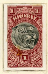 3080: États de l'Inde de Bhopal - Collections