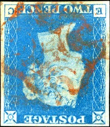 2865110: Grossbritannien 1840 2d blau