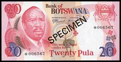 110.550.80: Banknoten - Afrika - Botsuana