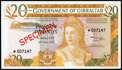 110.130: Banknotes - Gibraltar