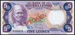110.550.350: Banknotes – Africa - Sierra Leone