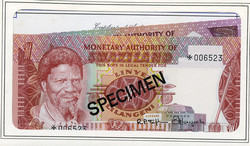 110.550.410: Banknoten - Afrika - Swasiland