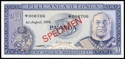 110.580.150: Banknotes – Oceania - Tonga