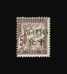 2610: Französische Post in China - Portomarken