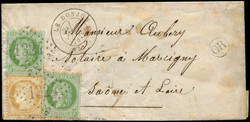 140030: France, Departement Allier (3) - Cancellations and seals