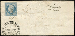 140010: France, Departement Ain (1) - Cancellations and seals