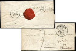 140020: France, Departement Aisne (2) - Cancellations and seals