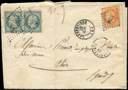 140070: France, Departement Ardèche (7) - Cancellations and seals