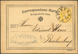 4745380: Austria Cancellations Moravia - Postal stationery