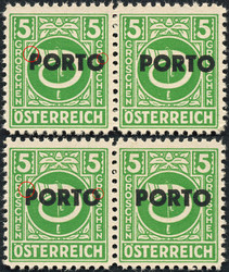 4745: Austria - Postage due stamps