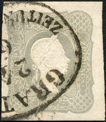 4745062: Austria Newspaper Stamp 1861 -