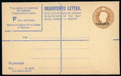 6165: Tanger Britische Post - Ganzsachen