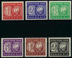 5355: La Rhodésie - Postage due stamps