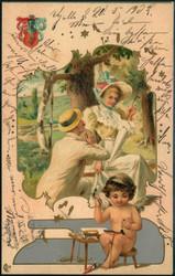 202052: Ansichtskarten, Glückwunsch, Engel