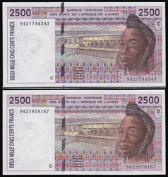 110.550.88: Banknoten - Afrika - Burkina Faso