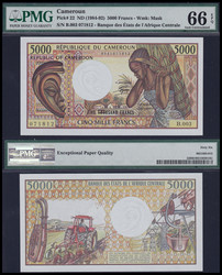 110.550.160: Banknotes – Africa - Cameroon