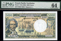 110.580.45: Banknotes – Oceania - French PacificTerritorries
