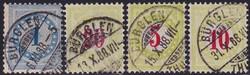 5655206: Schweiz Portomarken 1884/86, 11.-13. Auflage (B), Type II, KZ. I (FASERPAPIER)