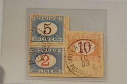 3530: Italian Post Crete - Postage due stamps