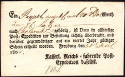 10010030: Altdeutschland Baden Postscheine