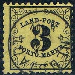 11: Altdeutschland Baden Landpost - Portomarken