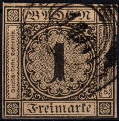10: Altdeutschland Baden - Stempel