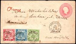 10010070: Altdeutschland Baden Ganzsachen mit Zusatzfrankatur - Ganzsachen