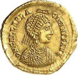 10.50.90: Antike - Weströmisches Reich - Galla Placidia, Gattin des Constantius III.